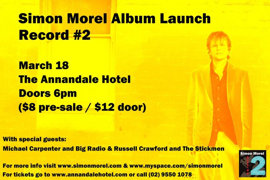 Simon Morel Record #2 CD release