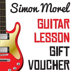 Simon Morel guitar lesson gift voucher