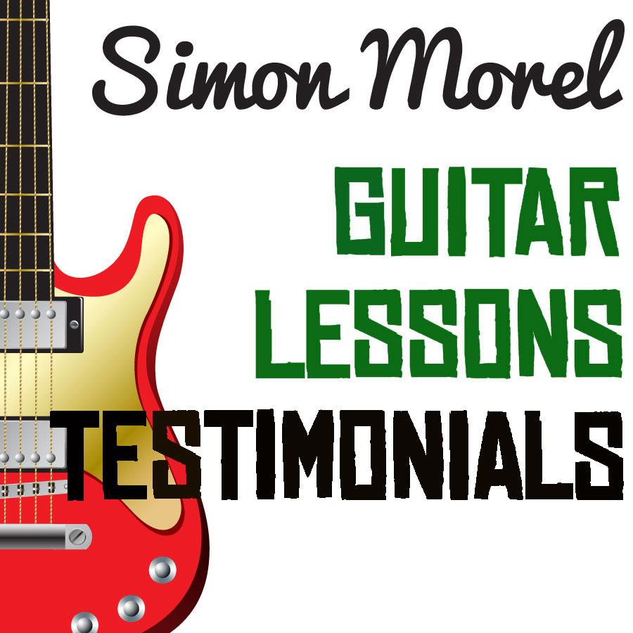 Simon Morel Guitar lesson testimonials
