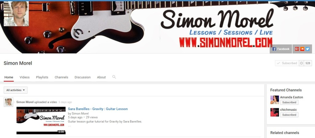 Youtube channel simon morel